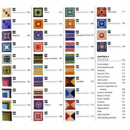 Arte e Tecnica dell'Uncinetto - 200 moduli quadrati